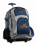 Virginia Tech Peace Frog Rolling Backpack Deluxe Navy