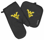 West Virginia University WVU Mitt Potholder Set