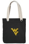 West Virginia University WVU Black Cotton Tote Bag