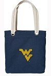 West Virginia University WVU Rich NAVY Cotton Tote Bag