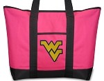 West Virginia University WVU Pink Tote Bag