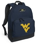 West Virginia University WVU Backpack Navy Blue