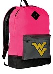 West Virginia University WVU Neon PINK Backpack