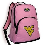 West Virginia University WVU Backpack Pink