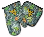 West Virginia University WVU Real Camo Mitt Potholder Set