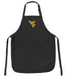 West Virginia University WVU Apron NCAA College Logo Black