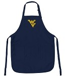 West Virginia University WVU Apron College Logo Blue