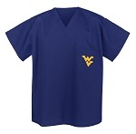 West Virginia University WVU Scrubs Top Shirt-