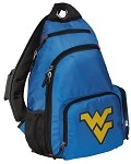 West Virginia University WVU Sling Backpack Blue