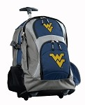 West Virginia University WVU Rolling Backpack Deluxe Navy