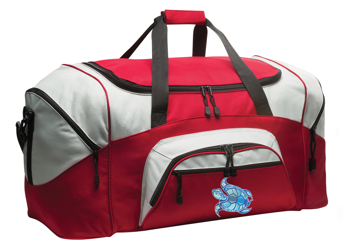 Turtle Duffle Bag Or Sea Turtle Gym Bags Red