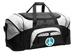 Peace Sign Duffel Bags or World Peace Gym Bags