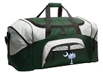 Large South Carolina Flag Duffle Bag Green