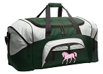 Large Horse Duffle Bag Green