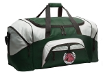 Large Horses Duffle Bag Green