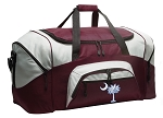 Large South Carolina Duffle Bag Maroon