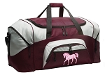 Large Horse Duffle Bag Maroon