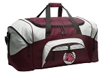 Large Horses Duffle Bag Maroon