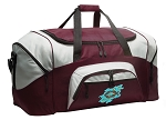 Large Christian Duffle Bag Maroon