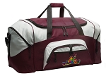 Large Peace Frogs Duffle Bag Maroon