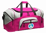 Peace Sign Duffel Bag or Gym Bag for Women
