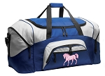 Horse Duffle Bag or Horse Theme Gym Bags Blue