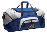 Peace Frogs Duffle Bag or Peace Frog Gym Bags Blue