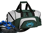 SMALL Blue Crab Gym Bag Blue Crabs Duffle Green