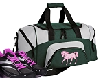 SMALL Horse Gym Bag Horse Theme Duffle Green