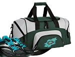 SMALL Christian Gym Bag Christian Theme Duffle Green