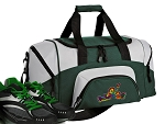 SMALL Peace Frogs Gym Bag Peace Frog Duffle Green
