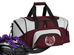 SMALL Horses Gym Bag Horse Lover Duffle Maroon
