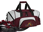 SMALL Peace Frogs Gym Bag Peace Frog Duffle Maroon