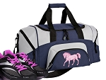 SMALL Horse Gym Bag Horse Theme Duffle Navy