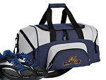 SMALL Peace Frogs Gym Bag Peace Frog Duffle Navy