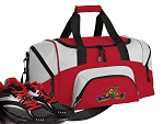 SMALL Peace Frogs Gym Bag Peace Frog Duffle Red