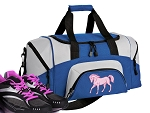 SMALL Horse Gym Bag Horse Theme Duffle Blue