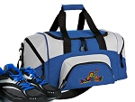 SMALL Peace Frogs Gym Bag Peace Frog Duffle Blue