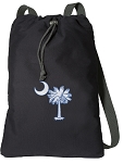 South Carolina Cotton Drawstring Bag Backpacks