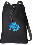 DOLPHIN Cotton Drawstring Bag Backpacks