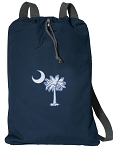 South Carolina Cotton Drawstring Bag Backpacks RICH NAVY