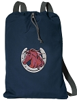 Horse Cotton Drawstring Bag Backpacks RICH NAVY