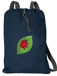 Ladybug Cotton Drawstring Bag Backpacks RICH NAVY