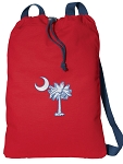 South Carolina Cotton Drawstring Bag Backpacks COOL RED