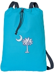 South Carolina Palmetto Cotton Drawstring Bag Backpacks COOL BLUE