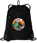 Soccer Drawstring Backpack-MESH & MICROFIBER