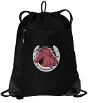 Horse Drawstring Backpack-MESH & MICROFIBER