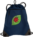 Ladybug Drawstring Backpack-MESH & MICROFIBER Navy