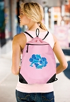 DOLPHINS Drawstring Bag Mesh and Microfiber Pink