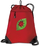 Ladybug Drawstring Backpack MESH & MICROFIBER Red